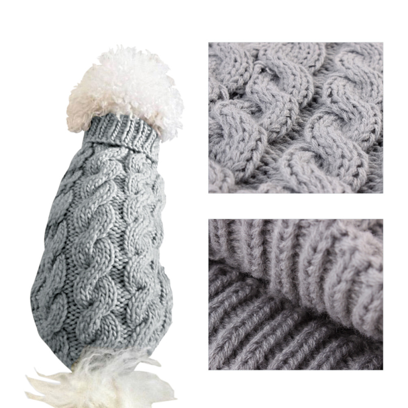 Pet Cat Dog Supplies Dog Warmer Sweater Outdoor Wear Knitted Jumper Knitwear Pet Clothes Puppy Cat High Collar Sweater Coats