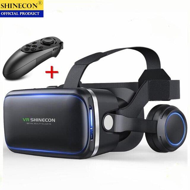 מקורי VR מציאות מדומה 3D משקפיים תיבת סטריאו VR Google קרטון אוזניות קסדת עבור IOS אנדרואיד Smartphone,Bluetooth נדנדה