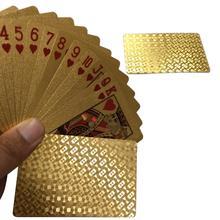 Ntertain золотые игральные карты колода из золотой фольги Набор для игры в покер волшебные карты золото серебро пластиковая фольга Pokers прочные водостойкие карты