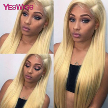 613 Honey Blonde Lace Front Wigs Remy Brazilian Straight Lace Front Human Hair Wigs For Black Women 13×4 Transparent Lace Wigs