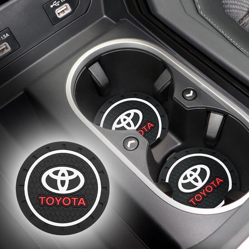 1/2PC Car Water Cup Bottle Holder Anti-slip Pad Mat Silica Gel For Toyota chaser hilux venza supra caldina rav4 2018 land mark x