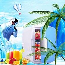 Portable Mobile refrigerator mini 4L small  Fridge  Home Dual Use Car Fridge 12V USB Rechargeable Cooler Heater Universal Fridge
