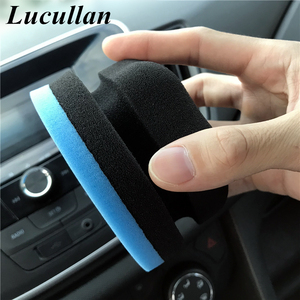 Image 5 - Lucullan Ergonomically Designed Flat Waxing Applicator Polishes Blue/Green Perfect For Applying Any Car Wax, Glaze and Sealant