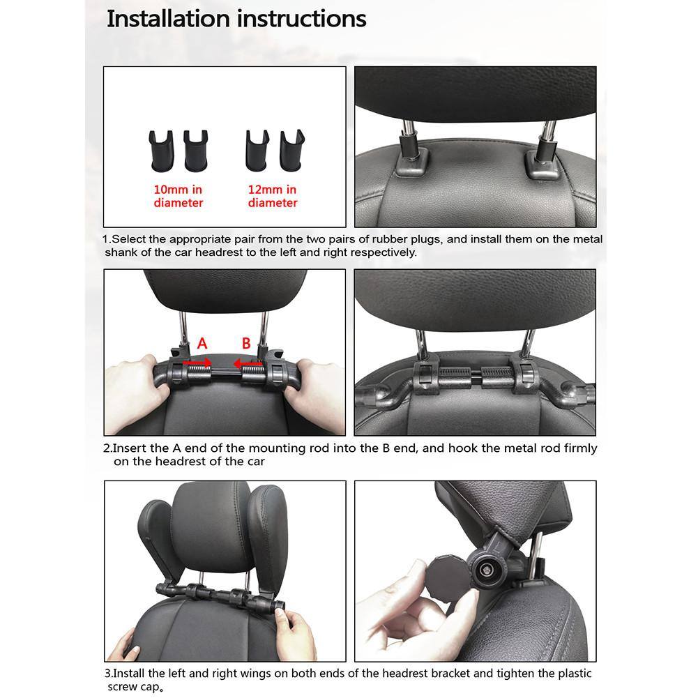 cheapest Car Seat Headrest Comfort Memory Foam Pad Car Seat Neck Pillow Sleep Side Head Support On Sides For Adults Child Cervical Spine