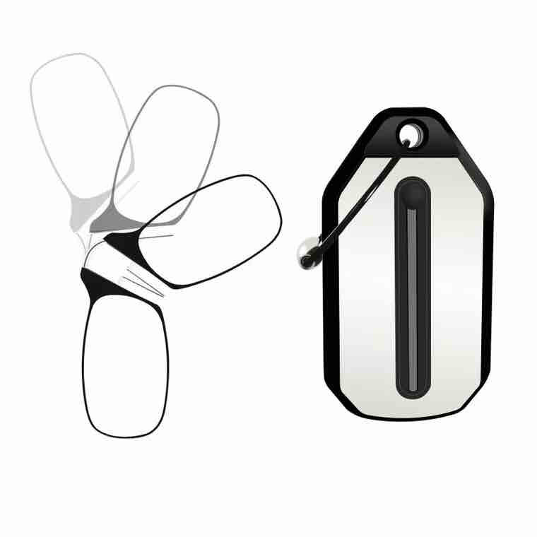 Clip Nose Reading Glasses Mini Folding Reading Glasses Men And Women's Easy Carry With Key Chain Case Glass Made