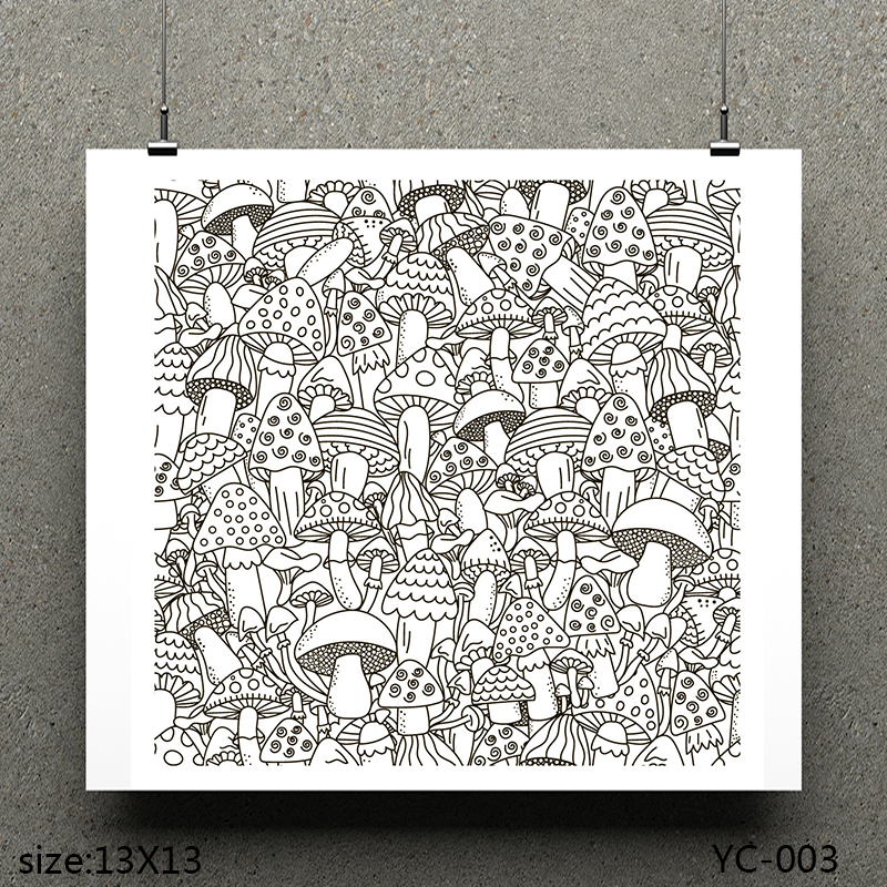 AZSG Delicious mushroom Clear Stamps/seal for DIY Scrapbooking/Card Making/Photo Album Decoration Supplies