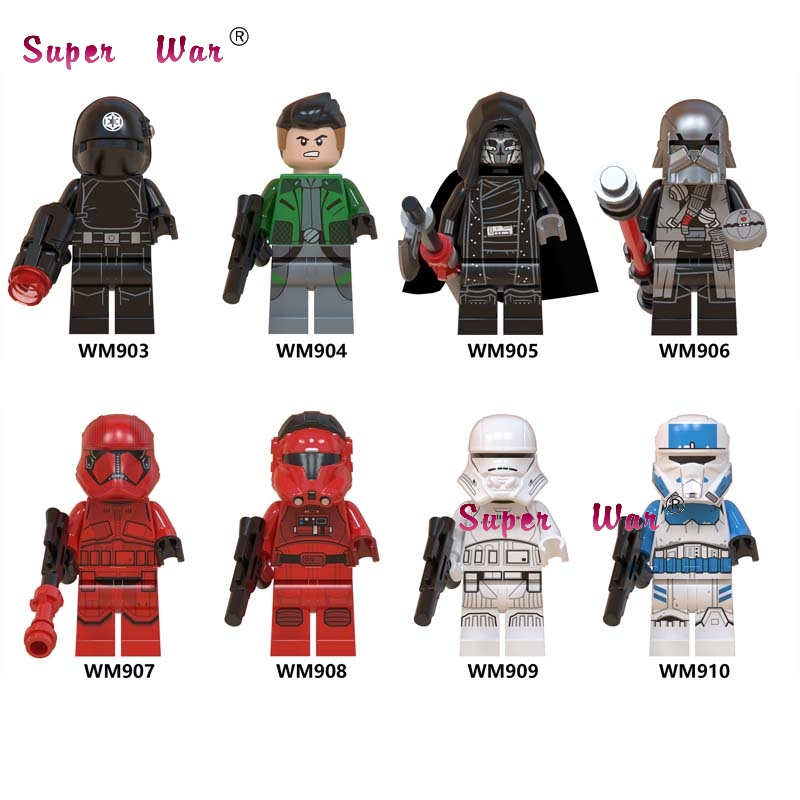 Single Mandalorian Imperial Transport Pilot Death Star Gunner Knights Of Ren Sith Jet Trooper Building Blocks Model Bricks Toys