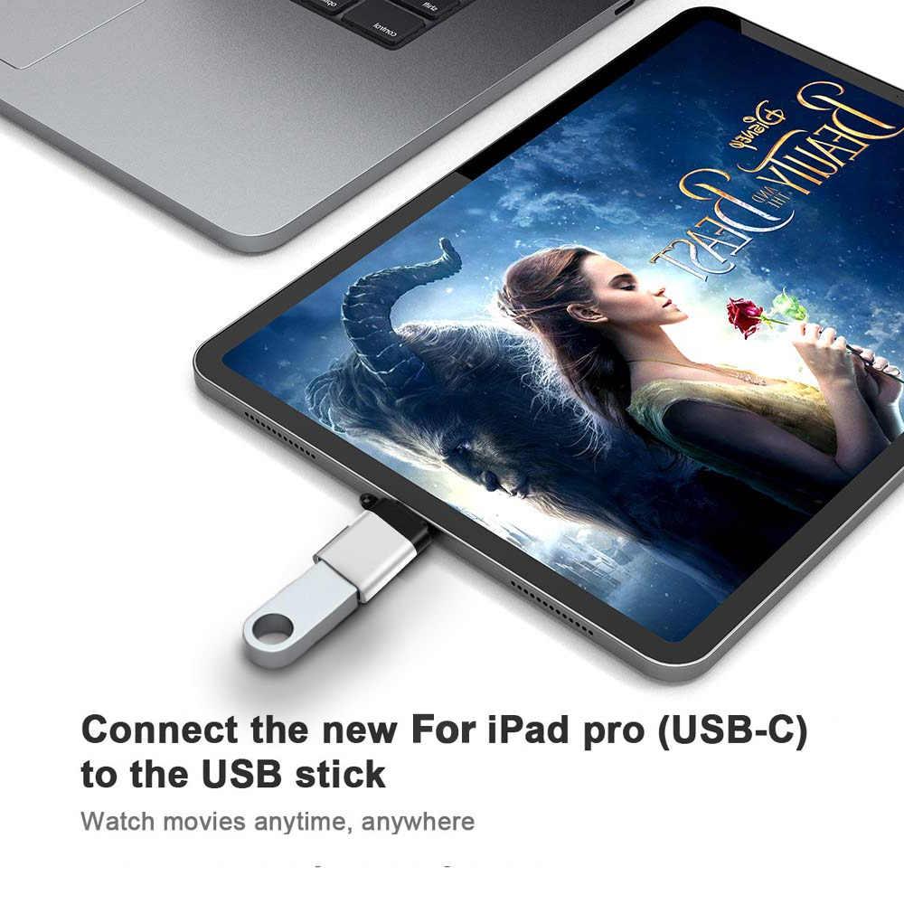10 Pcs Usb Tipo C Adattatore Otg per Apple Ipad Pro 11 12.9 2018 Ipadpro 2019 per Microsoft Surface Pro 6 7 Tablet Otg Cavo Usbc