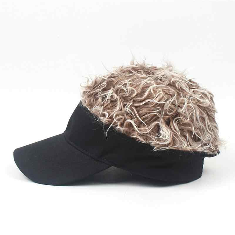 Outdoor Cap Soft Cotton Wig Baseball Cap Baseball Hat Golf Cap for Fishing Hunting Travel