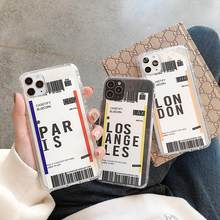 Ins Travel Label Country Phone Case For Xiaomi Redmi S2 4A 4X 5 Plus 5A 6A Note 5A Prime 6 Pro 7 Flight Ticket Letter Soft Cover(China)