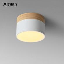 Aisilan HA CONDOTTO LA luce del punto del soffitto per la luce di soffitto lampade Apparecchi di Illuminazione a LED 5W da incasso faretto moderno in legno In Legno soggiorno luce