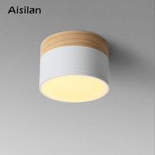 Aisilan LED سقف بقعة ضوء ل مصابيح السقف تركيبات الإضاءة led 5 واط الخشب النازل الأضواء الحديثة الخشب المعيشة ضوء