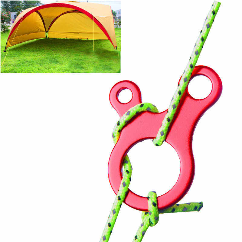 2Pc Rope Tent Buckle Camping Wind Outdoor Aluminum Cord Hook Knot Anti-Slip Hike