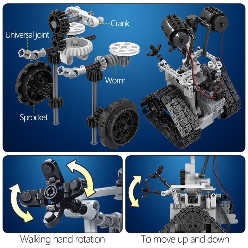 ZKZC 408PCS City Creative RC Robot Electric Building Blocks Technic Remote Control Intelligent Robot Bricks Toys For Children 4