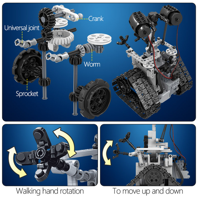 408PCS City Creative MOC RC Robot Electric Building Blocks Legoing Technic remote Control Intelligent Robot Bricks Toys For boys 3