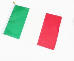 Image 4 - 5 sztuk kij flaga USA 14*21 cm ręczny mini flaga z biały słup żywy kolor i odporne na blaknięcie ręczny kij flagi