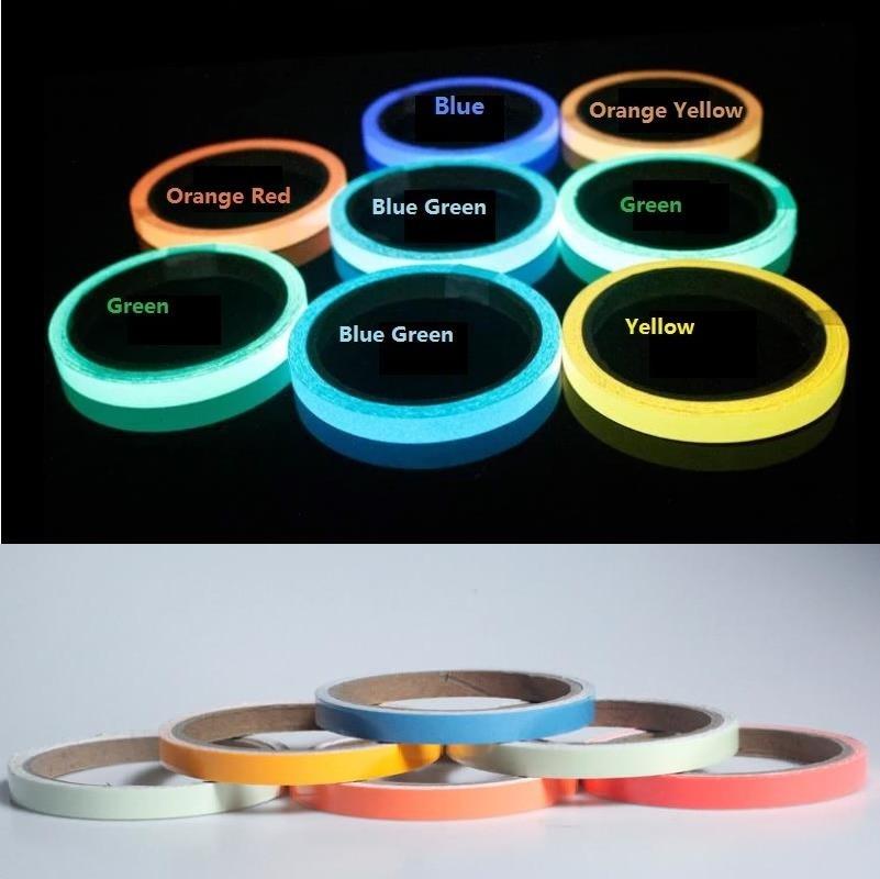 1cm*10M PET Night Self-Luminous Tape Self-adhesive Stage Warning Safety Tapes Glowing Sticker