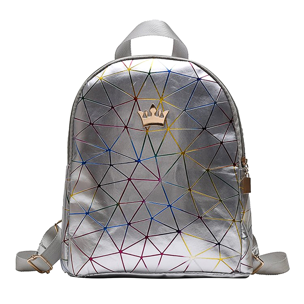Back to School SALE Kids//Teenagers Faux Leather Trim Backpack//Rucksack