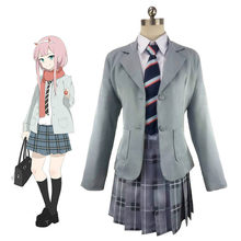 Anime DARLING in de FRANXX Cosplay HIRO ICHIGO Nul Twee 02 002 School Uniform Kostuum Halloween Party Dress Suit Outfit(China)