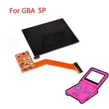 Podkreślić ekran IPS LCD dla konsoli nintendo GBA SP konsola do gier akcesoria do naprawy wymiana ekran LCD 5 poziom jasności regulowana