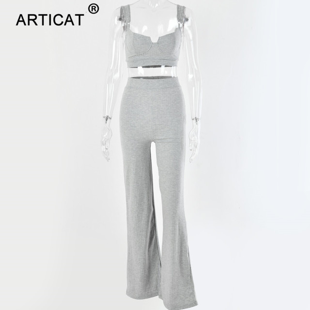 Two Piece Set Women Knitted Tracksuit