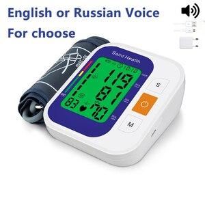 Image 3 - Saint Health Automatico Digitale Superiore Del Braccio di Pressione Sanguigna Monitor di Battimento di Cuore Vota Pulse Meter Tonometro Sfigmomanometri cardiofrequenzimetro