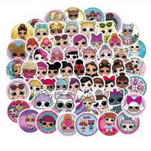 100Pcs stickers personality LOL-stickers childrens PVC graffiti suitcase car boot guitar waterproof