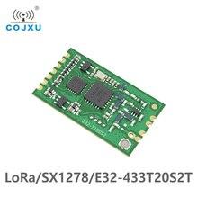 SX1278 módulo inalámbrico LoRa TCXO, 433MHz, E32 433T20S2T de largo alcance, 3km, rf, IPEX, transceptor con agujero de sello, receptor transmisor