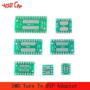 Pcb-Board-Kit Dip-Adapter SSOP 20 Converter SMT Turn 10pcs 8 10-14 16 28 Plate MSOP SMD