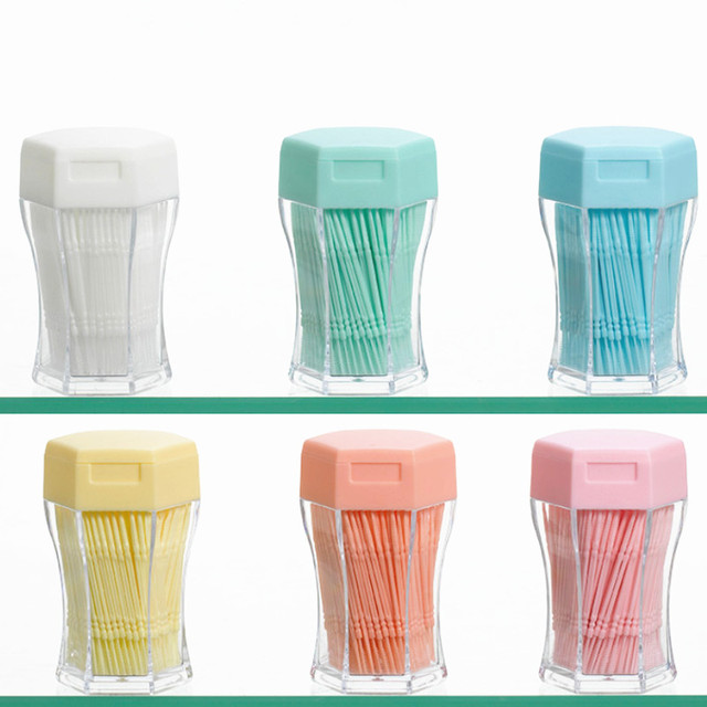 200pcs Pick interdental Brush Double-head Brushed For Teeth Cleaning Toothpick Oral Care Tool 6.2 Cm Tandenstokers Dental Floss