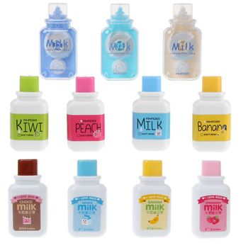 Korekta taśma biurowe Cartoon butelka mleka styl artykuły biurowe i szkolne tanie i dobre opinie Taśmy korekcyjnej