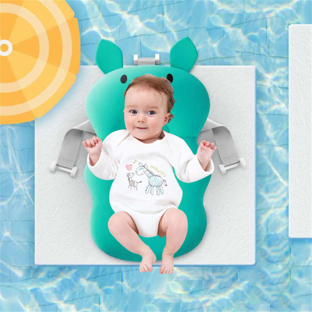Newborn Baby Shower Safety Bath Seat Pillow Security Portable Air Cushion Children Bed Infant Baby Bath Pad Non-Slip Bathtub Mat