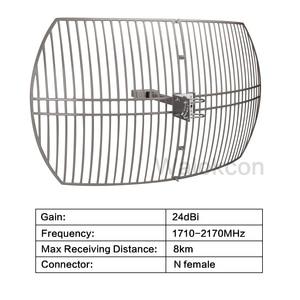 Image 2 - 24 DBiเสาอากาศกลางแจ้งสำหรับสัญญาณBooster Repeaterทำงานสำหรับ 3G WCDMA 2100 Mhz 4G LTE/DCS 1800 Mhzภายนอกตารางเสาอากาศ @