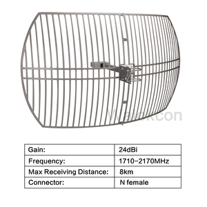 Image 2 - 24 dBi Gain Outdoor Antenna For Signal Booster Repeater Work For 3G WCDMA 2100 mhz 4G LTE/DCS 1800 mhz  External Grid Antenna@
