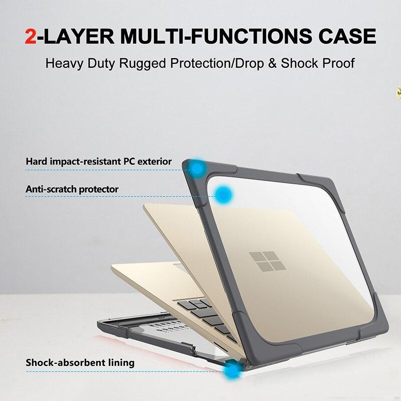 Coque de support pour ordinateur portable Microsoft Surface 13.5 pouces modèle 1868, housse Anti-fissure, support antichoc
