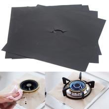 4 шт Защитная крышка для газовой плиты многоразовый лист, защитная накладка для газовой печи(27x27 см) FP8