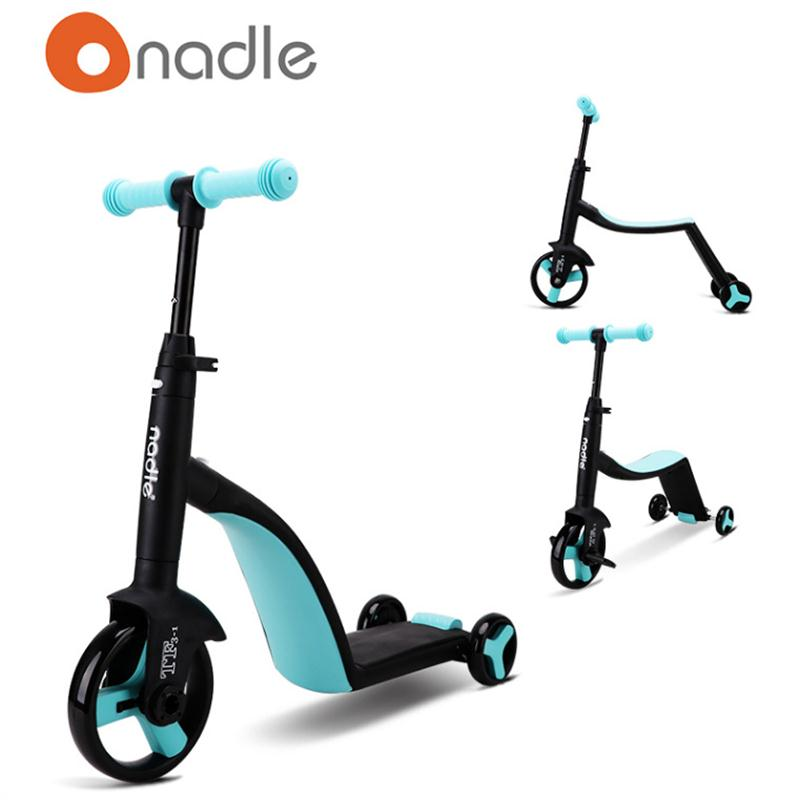 Freestyle kick scooter multi-function children scooter 3 in 1 kid slide tricycle three wheel baby blance car for 2-6 years