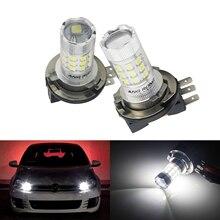 цена на ANGRONG 2x 30W H15 Bulb LED High Beam Headlight Daytime Light DRL White For Mercedes