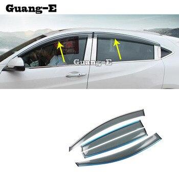 Araba vücut şekillendirici Sopa lamba plastik pencere camı Rüzgar Visor Yağmur/Güneş Koruyucu Havalandırma Için 4 adet Honda HRV HR-V vezel 2019 2020