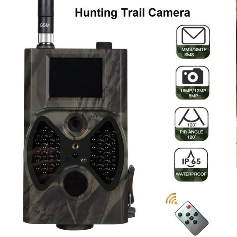 Охотничьи камеры 16 МП фотоловушка 120 ° Обнаружение 1080P фотоаппараты MMS / SMTP / SMS водонепроницаемые камеры для дикой природы наружные охотничьи...