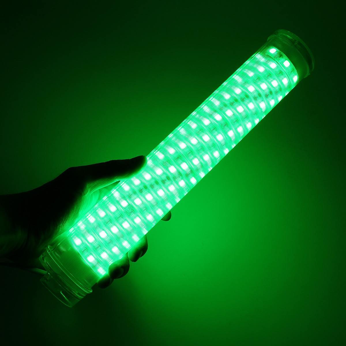 12V 30W Светодиодный Подводный Водонепроницаемый погружной светильник зеленого/синего цвета для рыбалки 2400LM лампа для рыбок кальмаров - Цвет: Зеленый