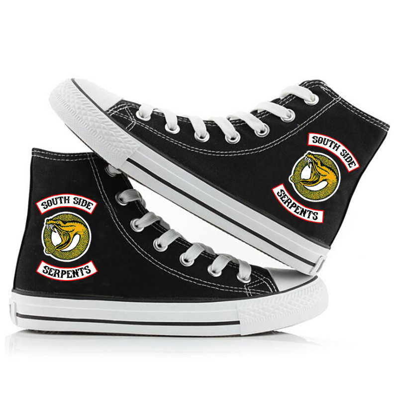 南側蛇 Riverdale 靴 Southside プリント高キャンバスシューズ大人ユニセックスファッションスニーカー靴 Riverdale 蛇