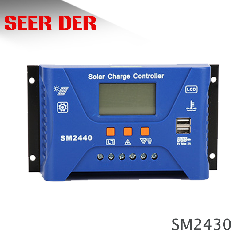 30A <font><b>20A</b></font> 10A <font><b>12V</b></font> 24V AUTO PWM Solar Charge Controller PV Regulators Solar Battery <font><b>Charger</b></font> for lithium battery/Lead acid battery image