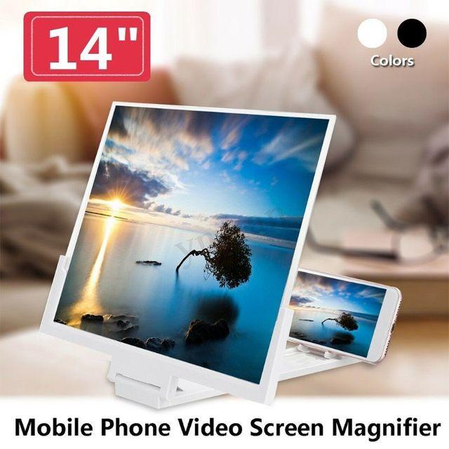 14 אינץ בחדות גבוהה מסך מתקפל מגבר טלפון זכוכית מגדלת Stand מחזיק