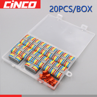 Box Packing 20PCS/LOT PCT-3-3 3 pin pole mini fast wire Connectors Universal Compact Wiring push-in Terminal Block