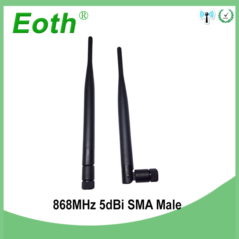 2pcs 868MHz 915MHz Antenna 5dbi SMA Male Connector GSM Antena Straight 868 MHz 915 MHz Antenne For Gsm Signal Repeater Lorawan