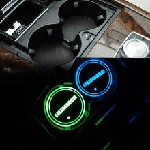 רכב Led מבריק מים כוס משטח חריץ מחצלת זוהר תחתיות אווירת אור מנורת עבור האמר H1 H2 H3