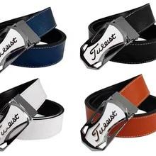 New golf cowhide belt men and women trendy casual pants golf sports belt