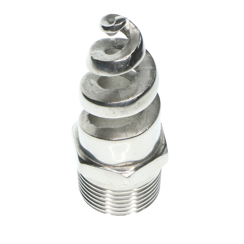 Stainless Steel Spiral Cone Spray Water Nozzle Sprinkler Heads 0.25inch For Dust Removal Fire Fighting Spraying Cleaning