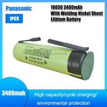 1 шт., 100% Оригинальная литий-ионная перезаряжаемая батарейка NCR 18650B 18650, 3400 мАч, 3,7 В для фонаря или + nquel pieza DIY